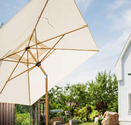 Holz / Holzoptikschirme für Ihren GArten oder die Terrasse