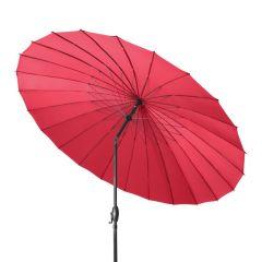 Doppler Sonnenschirm SHANGHAI 270 cm Rot, geknickt