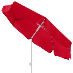 Doppler Sonnenschirm Gastro Waterproof 180 cm Rot, geknickt