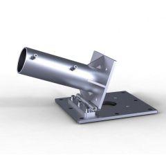 May Ankerplatte zum Aufdübeln mit Klappscharnier für XXL-Gastroschirm ALBATROS