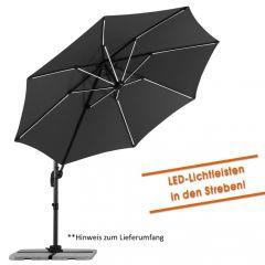 Schneider Pendelschirm Rhodos Blacklight 300 cm inkl. LED-Lichtleisten
