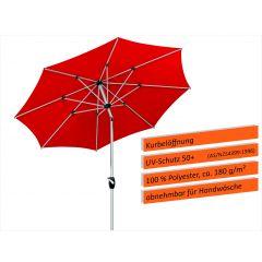 Schneider Sonnenschirm Venedig 270 cm Rot - geneigt
